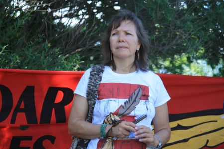 The issues today are the same as they were 23 years ago, during the Oka Crisis, says Kanehsatà:ke community member Ellen Gabriel. PHOTO: Arij Riahi.