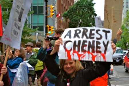 Dick Cheney's Vancouver Visit Galvanizes Spirited Protest