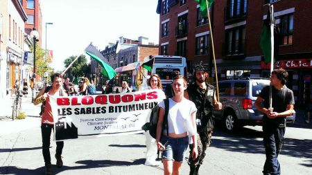 March against Energy East and Tar Sands Expansion in Montreal