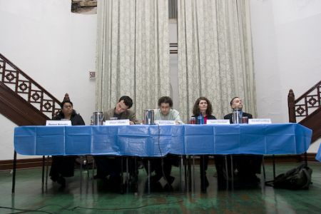 panel members at the discussion
