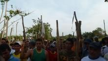 Seventh day of pipeline blockade against multinational oil corporations in the Colombian region of Arauca