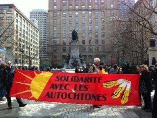 Montréal: manifestation de solidarité avec les Innus