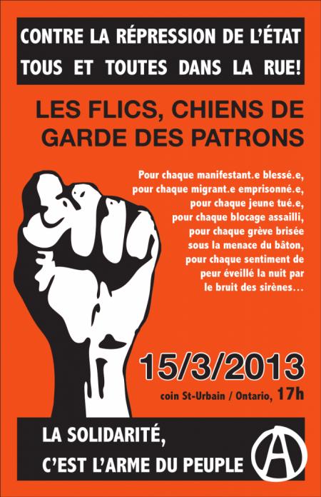 Affiche pour le 15 mars