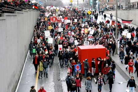 Montreal student protest 23/02/2012