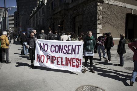 Montreal Day of Solidarity with Unis'ot'en Resistance to the Pacific Trails Pipeline