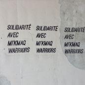 Solidarité avec Mi'kmaq Warriors