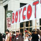 Housing rally launches Downtown Eastside boycott campaign
