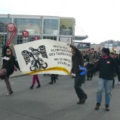 Spirit Train Protest in Montreal