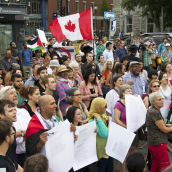 Montrealers Denounce Israeli War Crimes in Gaza as they attend a 4th Protest in less than 2 Weeks.