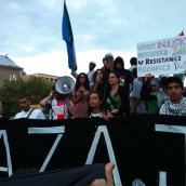Gaza-Solidarity Protest in Montreal (July 30)