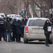 Montreal Police have system in place to search, process and fine protesters 638$ before releasing them.