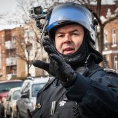 Montreal Riot Police now equipping GoPro's on their commanders.