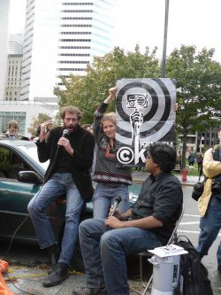 Live broadcast from Day 1 of Occupy Montreal (pt 1)