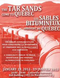 Community forum builds growing opposition to tar sands pipelines in Quebec