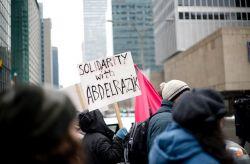 Abdelrazik solidarity: Photo Elsa Marie Jabre