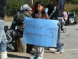 À un blocage près du Lac Barrière. Photo: Barriere Lake Solidarity