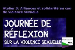 Atelier 3: Alliances et solidarité en cas de violence sexuelle dans son milieu de mobilisation