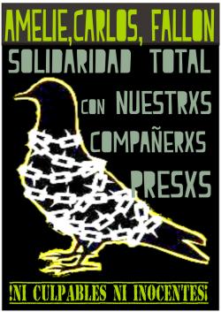 Trois camarades anarchistes arrêté-es et détenu-es dans la ville de Mexico