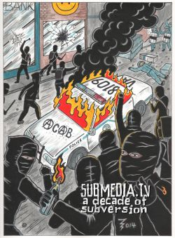"""subMedia.tv: A Decade of subversion"" cover art by ZigZag"