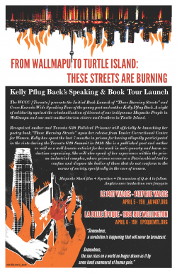 Kelly Pflug-Back on These Burning Streets, Women, and Prisons
