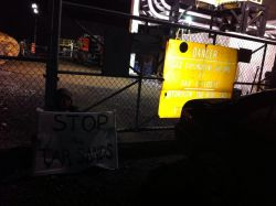 Quatre activistes bloquent les travaux de la ligne 9B d'Enbridge