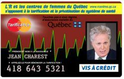 Carte Assurance Maladie Femme.Monsieur Charest Les Femmes En Ont Assez De Vos Taxes Qui