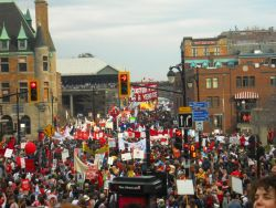 250,000 people - from grandparents to high school students - marched in the streets of Montreal against tuition fee increases on March 22.