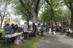 Parc Sir-George-Étienne-Cartier in St. Henri was overtaken by Occupy Montreal organizers and supporters (Sophie Blais)