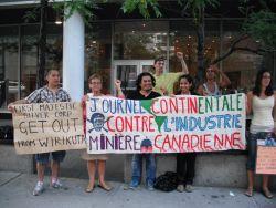 Journée continentale contre l'industrie minière canadienne
