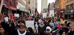 City-wide rally in Toronto, in solidarity with Gaza