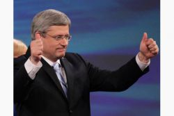 "Harper says ""Canada won't stand on the sidelines"""