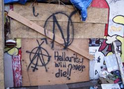 Hellarity was Oakland's oldest squat (15 years) when it was shut down earlier this year.