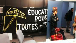 Occupation of Quebec Education Minister's Office Calls for Education for All