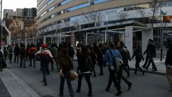 Crowd marches unopposed down Maisonnueve and St-Urbain