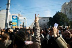 Popular protest in Tunisia.