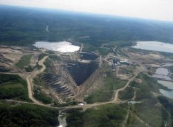 Mine à ciel ouvert de Malartic - Photo: Simon Plouffe