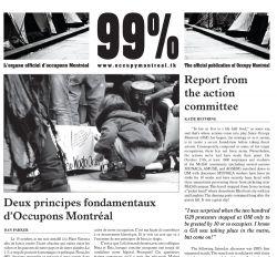 Premier numéro de 99%, l'organe officiel d'occupons Montréal