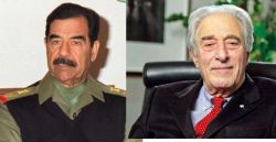 Presidents Saddam Hussein and Frederick Lowy