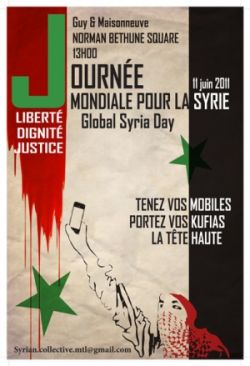 CKUT's Morning After: Revolution in the Making: Syria from a Montreal perspective