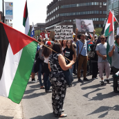 Ten Thousands Montrealers marched in the Biggest Palestine-Solidarity Demonstration Yet!